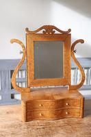 Swedish Birch / Masurbjörk Box Mirror Rococo style c.1820 (12 of 15)