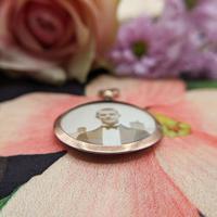 Vintage 9ct Rose Gold Photo Frame Locket Pendant (3 of 7)