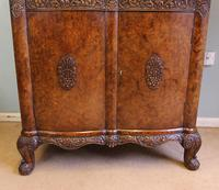 Antique Impressive Burr Oak Cocktail Drinks Cabinet (6 of 16)