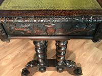 Victorian Carved Oak Desk Library Table (22 of 25)