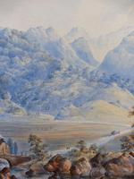 Watercolour The Glen Monogrammed A M 1863 (11 of 12)