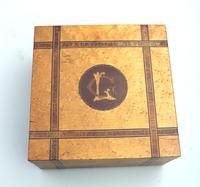 A Very Pretty Victorian Inlaid & Cross Banded Box 19th Century (2 of 5)