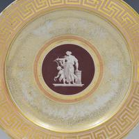 Early Coalport Neo Classical Dessert Plate Greek Key Border c.1805-1810 (2 of 8)