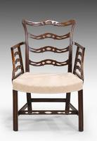 Late 19th Century Mahogany Frame Elbow Chair (3 of 5)