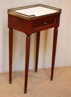 French Mahogany Marble Top Table (9 of 10)