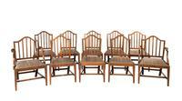 Set of Ten George III Period Mahogany Chairs