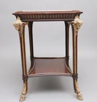 19th Century French Mahogany & Marble Top Occasional Table (3 of 12)
