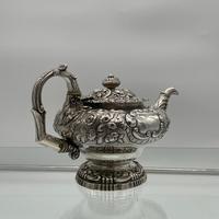 Antique George IV Sterling Silver Teapot London 1824 John Craddock & William Reid (7 of 11)
