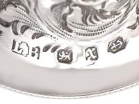 Sterling Silver Napkin Rings Set of Six - Antique Victorian 1897 (11 of 12)