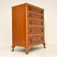 Antique Burr Walnut  Chest of Drawers (3 of 10)