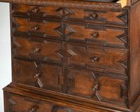 Rare William and Mary Period Solid Walnut Chest on Stand (6 of 6)