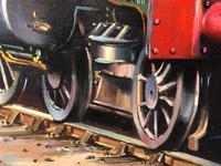 Oil Painting Railway Train Engine Princess Margaret 4056 Signed Ken Allsebrook (23 of 30)