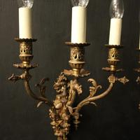 English Pair of Bronze Antique Gasoliers (2 of 10)