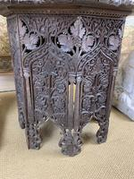 19th Century Indian Carved Occasional Table (3 of 7)