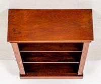 Plain Victorian Mahogany Open Bookcase (7 of 7)