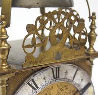 Superb Vintage English Lantern Clock - Pendulum 8-day Striking Mantel Clock c.1890 (8 of 12)