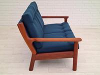 Completely renovated sofa, 70s, furniture wool, teak (10 of 13)