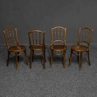 Set of Four Bentwood Chairs by Mundus and J+J Kohn LTD (6 of 9)