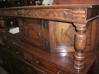 Ornately Carved Oak Court Cupboard (2 of 4)