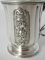 Victorian Silver Childs Christening Mug with a Cast Floral Handle (4 of 5)