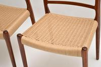 Pair of Danish Rosewood 82 Chairs by Niels Moller Vintage 1960's (12 of 13)