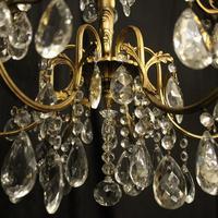 Italian Gilded & Crystal 6 Light Antique Chandelier (9 of 10)