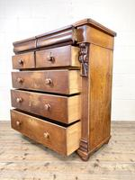 Large Victorian Oak & Mahogany Chest of Drawers (9 of 10)