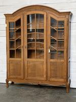 French 3 Door Oak Bookcase or Cabinet