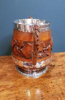 Large Antique Oak Carved Silvered Loving Cup (7 of 8)