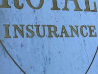 Interesting Architectural Large Heavy Marble & Gilt Inscribed Royal Insurance Building Sign (12 of 13)