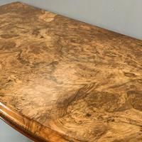 19th Century Burr Walnut Demi lune Console Table (6 of 6)