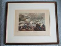 """Aquatint of the """"Battle of the Pyrenees, July 28th 1813"""", Pub. by James Jenkins in """"Martial Achievements of Great Britain & Her Allies 1799-1815"""" (2 of 5)"""