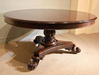 William IV Large Circular Breakfast / Dining Table (7 of 8)