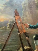 Late 18th Century 'British School' Original Oil Portrait Painting of a Shoreline Artist (5 of 12)