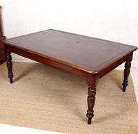 Large Library Desk Mahogany Leather 19th Century (3 of 9)
