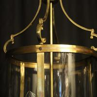 French Pair Convex Triple Light Antique Lanterns (2 of 9)