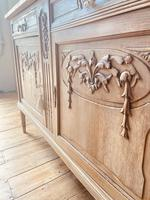 French Antique Oak Cupboard / Cabinet with Marble (6 of 10)