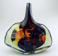 Good Maltese Mdina Art Glass Fish / Axe Head Vase Signed Dobson c.1978 (2 of 6)