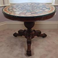 19th Century Mahogany Based Marble Specimen Topped Centre Table (2 of 4)