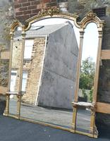 Large Impressive 19th Century Gilt Overmantle Mirror by C Nossotti (3 of 16)