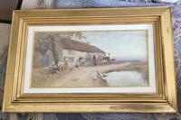 Tom Lloyd Watercolour 'Resting Outside The Inn' (4 of 4)