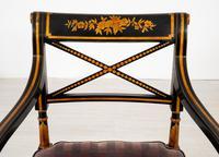 Pair of Ebonised Regency Style Open Armchairs (3 of 9)