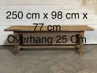 Rare Large & Deep Oak Farmhouse Dining Table (25 of 31)