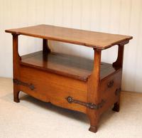 Arts & Crafts Solid Oak Monks Bench (9 of 12)