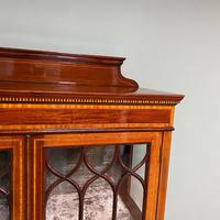 Superb Quality Victorian Inlaid Mahogany Antique Display Cabinet (3 of 7)
