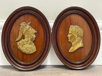 Pair of Interesting 19th Century Gilded Bronze Alexander The Great & Napoleon Cameo Plaques (6 of 29)