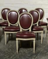 Set of 8 French Dining Chairs Lovely Original Finish (6 of 18)