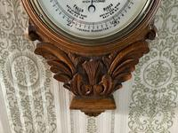 Heavily Carved Oak Mid Victorian Barometer / Thermometer (4 of 4)