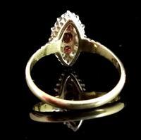 Victorian Ruby & Diamond Navette Ring (6 of 14)