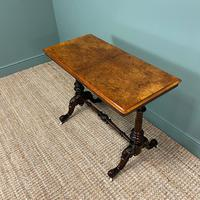 Magnificent Victorian Figured Walnut Antique Centre Table (5 of 7)